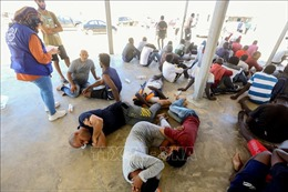 Vấn đề người di cư: Libya giải cứu 383 người trên biển