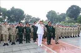 Sĩ quan mũ nồi xanh hứa quyết tâm với Bác