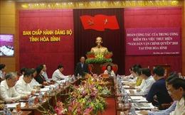 Kiểm tra việc thực hiện 'Năm Dân vận chính quyền' tại Hòa Bình