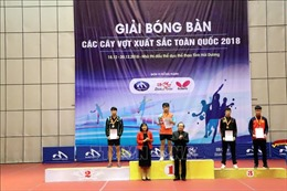 Nguyễn Đức Tuân vô địch đơn nam Giải bóng bàn các cây vợt xuất sắc toàn quốc năm 2018