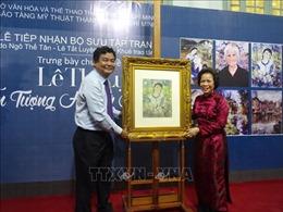 Tiếp nhận các tác phẩm quý hiếm của nữ danh họa Lê Thị Lựu