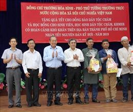 Phó Thủ tướng Trương Hòa Bình tặng quà Tết cho đồng bào Chăm, Khmer tại TP Hồ Chí Minh