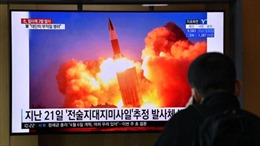 Triều Tiên thử vũ khí lần đầu tiên dưới thời Tổng thống Biden