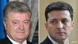 Bầu cử Tổng thống Ukraine: Hai ứng viên V. Zelensky và P. Poroshenko đối đầu ở vòng 2