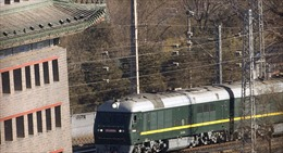 Đoàn tàu bọc thép đặc chủng của Chủ tịch Triều Tiên tới Nga