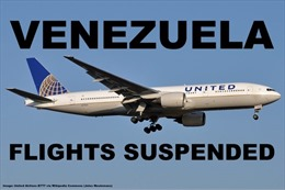 Mỹ đình chỉ dịch vụ hàng không với Venezuela