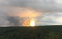 Nổ kho vũ khí lớn tại Nga, hai ngôi làng phải sơ tán