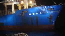 Tàu chiến Trung Quốc va chạm với tàu hàng Đài Loan