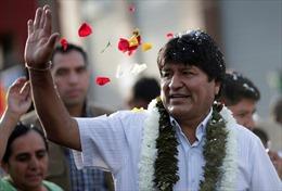 Bầu cử Bolivia: Tổng thống cánh tả Evo Morales giành đủ số phiếu để chiến thắng ngay vòng 1