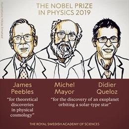 Nobel Vật lý 2019 vinh danh khám phá vũ trụ và hành tinh ngoài Hệ Mặt Trời