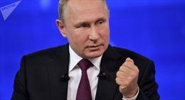 Tổng thống Nga Vladimir Putin tiến hành cuộc họp báo cuối năm
