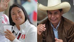 Ứng cử viên cánh tả Castillo dẫn trước trong cuộc bầu cử Tổng thống Peru