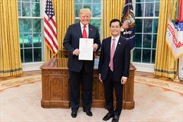 Tổng thống Donald Trump đánh giá cao bước phát triển quan hệ Đối tác toàn diện Việt Nam-Hoa Kỳ