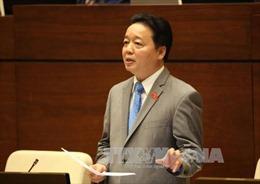 Bộ trưởng Trần Hồng Hà: Không có lợi ích nhóm khi lùi thời gian thu tiền cấp quyền khai thác khoáng sản và tài nguyên nước