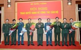 Đại tướng Ngô Xuân Lịch trao Quyết định cho 5 tướng lĩnh nhận nhiệm vụ mới