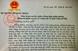 Đại tướng Ngô Xuân Lịch gửi thư khen lực lượngCảnh sát biểnvì có thành tích phá án ma túy