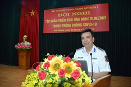 Cảnh sát biển ứng dụng Bluezone phòng, chống dịch COVID-19