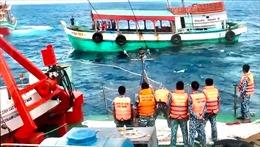Ngày mùng 5 Tết, Cảnh sát biển cứu nạn thành công tàu cá CM 92411TS trên biển
