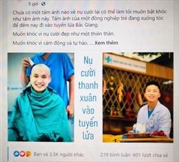Bức ảnh bác sĩ trẻ cạo trọc đầu xung phong vào tâm dịch COVID-19 gây xúc động cho người xem