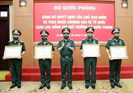 Trao Huân chương Bảo vệ Tổ quốc tặng các đồng chí Thứ trưởng Bộ Quốc phòng