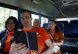 26 xe buýt sơn màu cam, gắn camera trên tuyến đông học sinh, sinh viên để ngăn chặn quấy rối tình dục