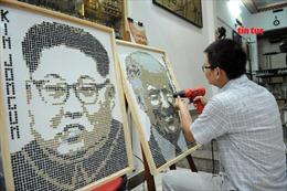 Dùng 7.000 con ốc vít 'vẽ' chân dung Tổng thống Donald Trump và Chủ tịch Kim Jong-un