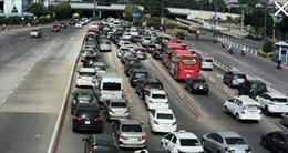 Năm ô tô đâm liên hoàn trong hầm Thủ Thiêm, giao thông ùn tắc kéo dài