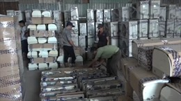 Phát hiện gần 300 bộ máy lạnh vận chuyển từ Campuchia về Việt Nam