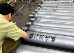Phát hiện 139 bình khí bóng cười tại TP Hồ Chí Minh