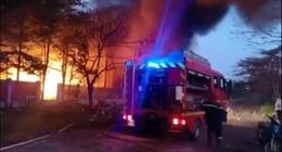 TP Hồ Chí Minh: Dập tắt đám cháy công ty gỗ ở khu công nghiệp Cát Lái
