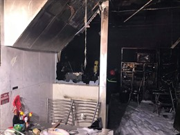 Cháy quán cơm ở trung tâm TP Hồ Chí Minh do bất cẩn khi thay bếp ga