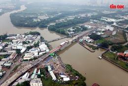 Hợp long cầu Phước Lộc (TP Hồ Chí Minh) sau hơn 7 năm ngừng thi công