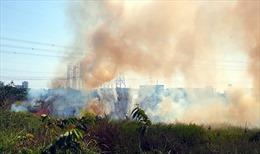 Bất cẩn do đốt rác, lửa uy hiếp gần 50 căn nhà trọ và đường điện cao thế