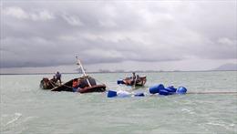 Sà lan đâm chìm tàu kéo ở biển Cần Giờ, 3 người được cứu sống