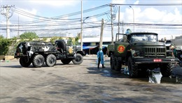 TP Hồ Chí Minh: Quân đội phun khử khuẩn toàn bộ chợ đầu mối Bình Điền