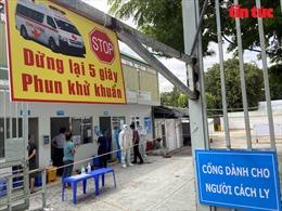 Khu thu dung điều trị bệnh nhânmắc COVID-19 tại sân bóng đá Phú Nhuận bắt đầu hoạt động