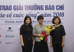 Lần đầu trao giải thưởng báo chí 'Bảo vệ cuộc sống' cho nhà báo