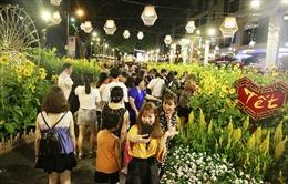 Người dân đổ xô đến Hội chợ hoa Xuân Phú Mỹ Hưng chơi Tết sớm