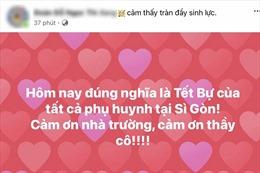 Phụ huynh TP Hồ Chí Minh hài hước đăng status 'vui như Tết'  khi con quay trở lại trường