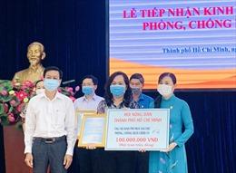TP Hồ Chí Minh tiếp nhận 2.077 tỷ đồng ủng hộ Quỹ phòng chống dịch bệnh COVID-19