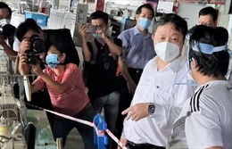Lãnh đạo TP Hồ Chí Minh kiểm tra công tác phòng dịch tại Công ty PouYuen
