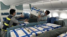 Hơn 100 tấn vải thiều Bắc Giang được chở bằng 'chuyên cơ' vào TP Hồ Chí Minh