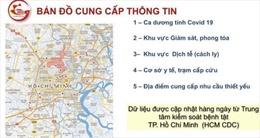 TP Hồ Chí Minh ra mắt bản đồ số về phòng, chống dịch COVID-19