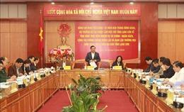 Bộ trưởng Tài chính Đinh Tiến Dũng làm việc với lãnh đạo tỉnh Lạng Sơn