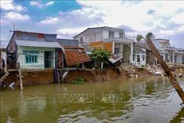 Đẩy nhanh thi công kè chống sạt lở sông Ô Môn - Rạch Tra
