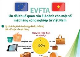 Ưu đãi thuế quan của EU dành cho một số mặt hàng công nghiệp từ Việt Nam