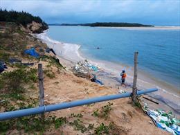 Bờ biển Tam Hải (Quảng Nam) tiếp tục sạt lở nhiều nơi