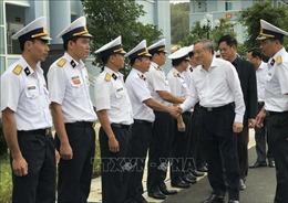 Chánh án Tòa án nhân dân Tối cao Nguyễn Hòa Bình thăm Lữ đoàn Tên lửa bờ 682