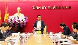 Đoàn công tác Ban Chỉ đạo Trung ương về phòng chống tham nhũng làm việc tại Quảng Ninh