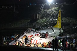 Gia tăng thương vong trong vụ máy bay Thổ Nhĩ Kỳ vỡ làm 3 khi tiếp đất